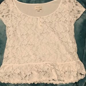 White floral top from Gilly Hicks
